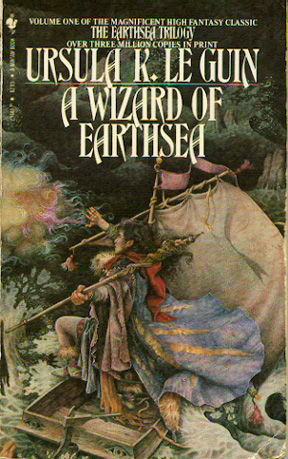 cover art from A Wizard of Earthsea by Ursula K. Le Guin